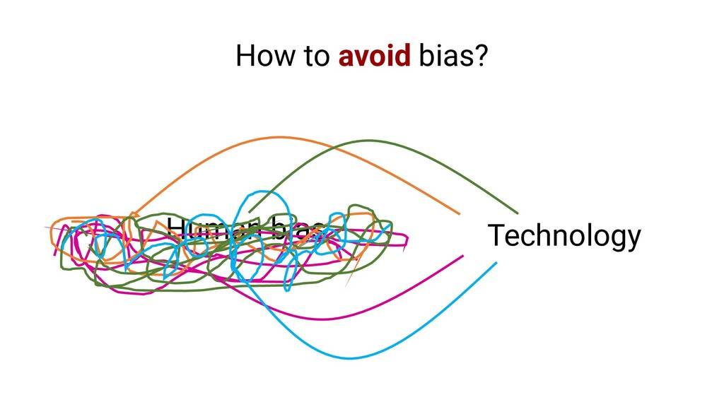 Human bias Technology How to avoid bias?