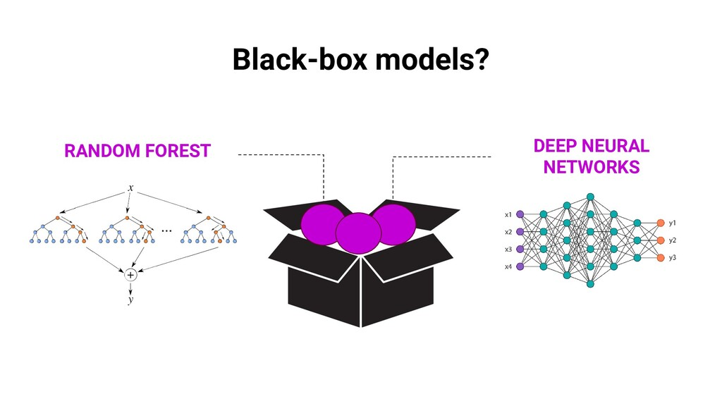 Black-box models? RANDOM FOREST DEEP NEURAL NET...