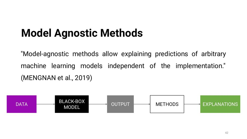 42 Model Agnostic Methods BLACK-BOX MODEL OUTPU...