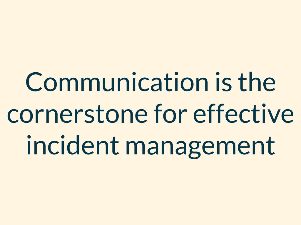 Communication is the cornerstone for effective ...