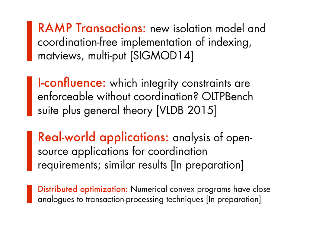RAMP Transactions: new isolation model and coor...