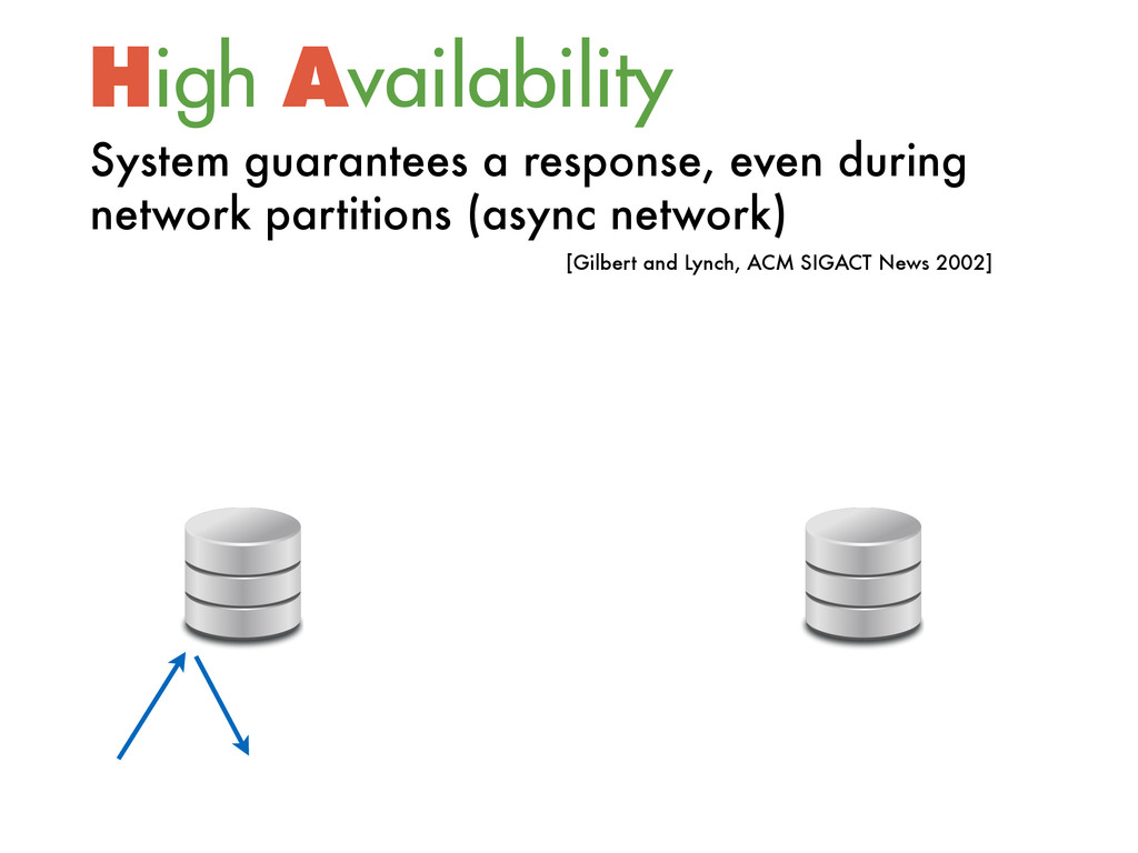 High Availability [Gilbert and Lynch, ACM SIGA...