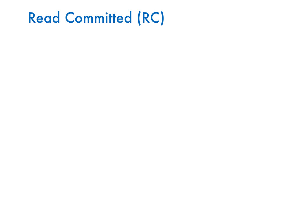Read Committed (RC)