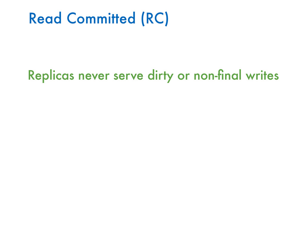 Read Committed (RC) Replicas never serve dirty ...