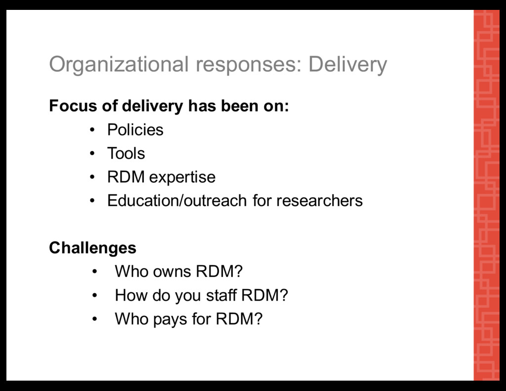 Organizational  responses:  Delivery Focus  of ...