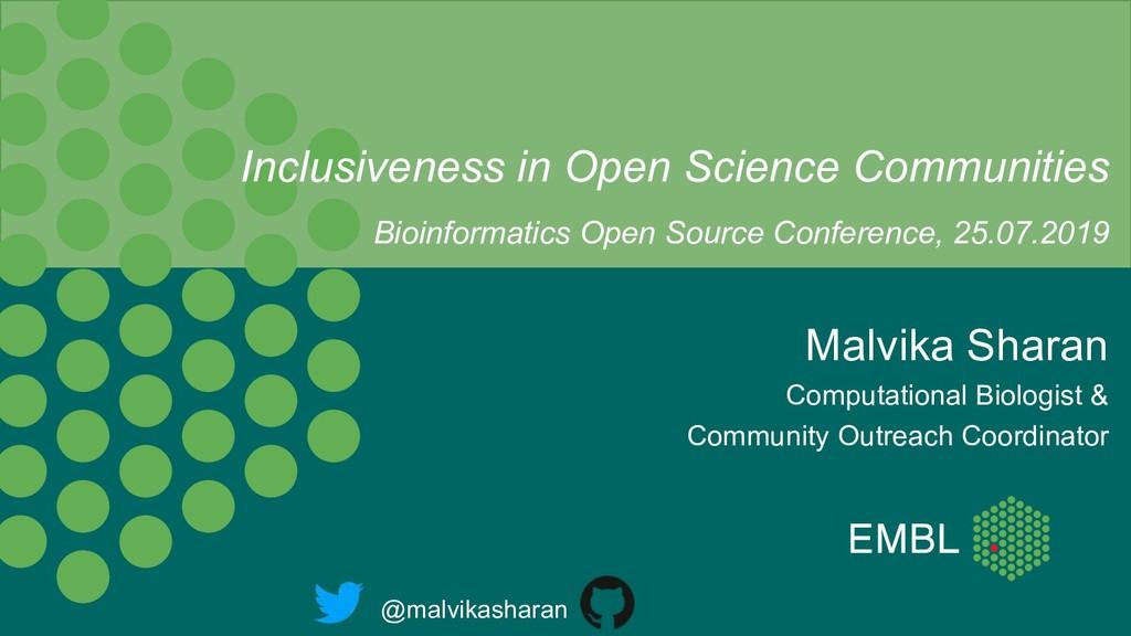 Malvika Sharan Computational Biologist & Commun...