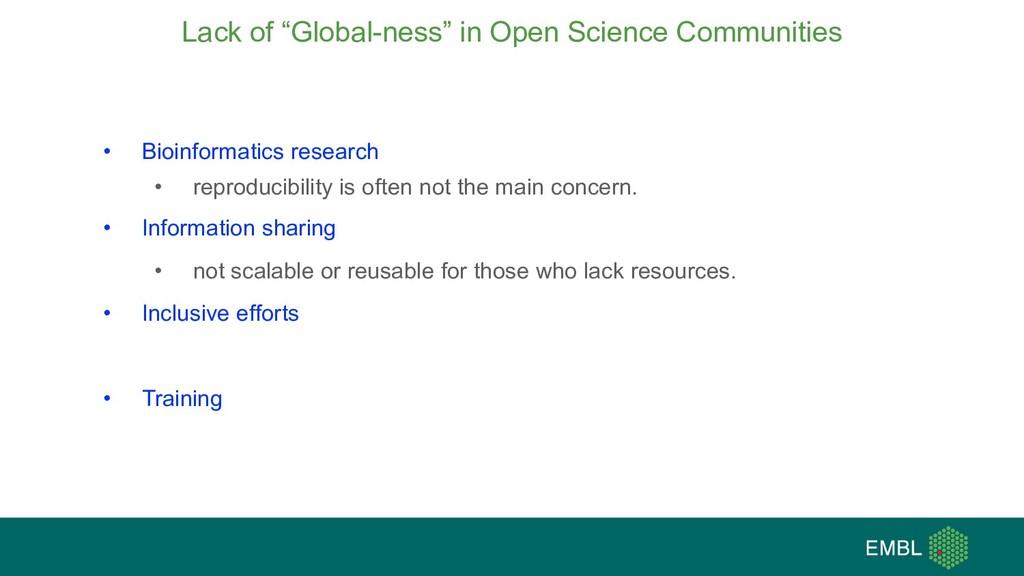 "Lack of ""Global-ness"" in Open Science Communiti..."