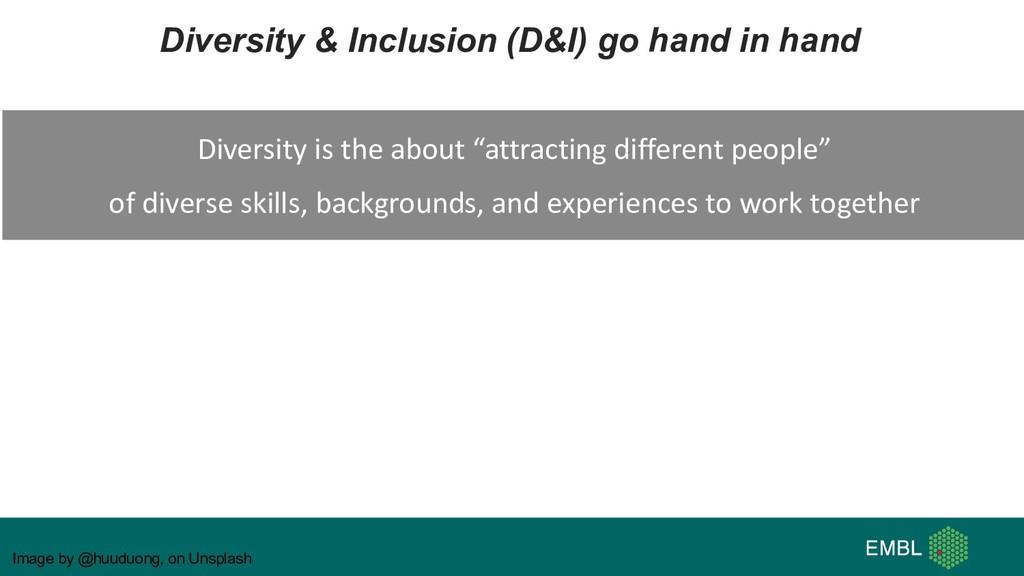 Image by @huuduong, on Unsplash Diversity & Inc...