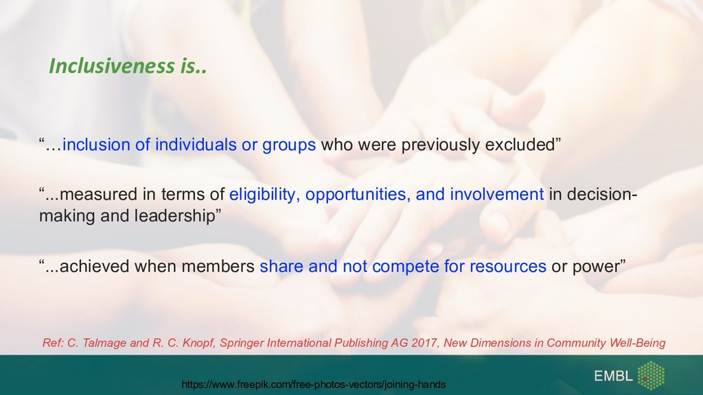 """""""…inclusion of individuals or groups who were p..."""