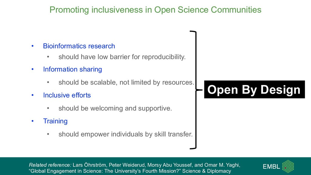 Promoting inclusiveness in Open Science Communi...