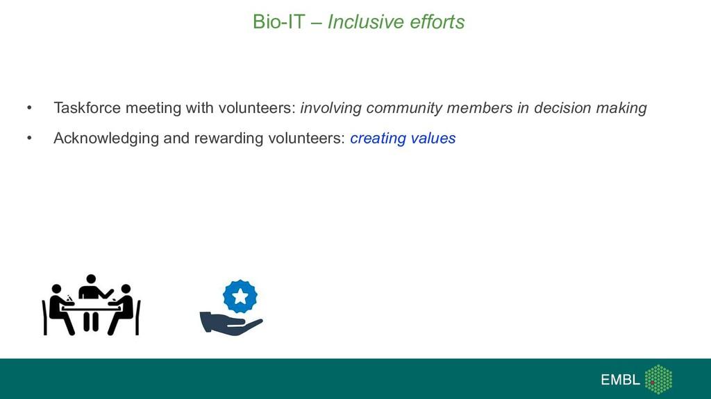 • Taskforce meeting with volunteers: involving ...