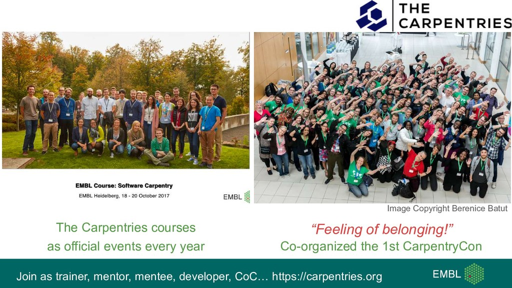 Join as trainer, mentor, mentee, developer, CoC...