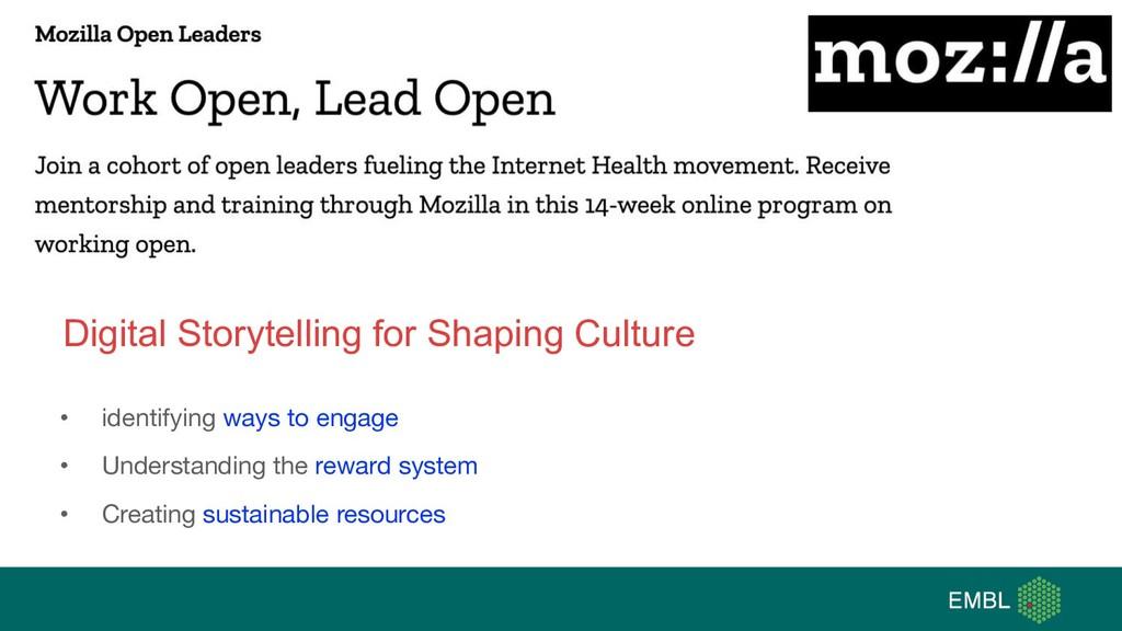 Digital Storytelling for Shaping Culture • iden...