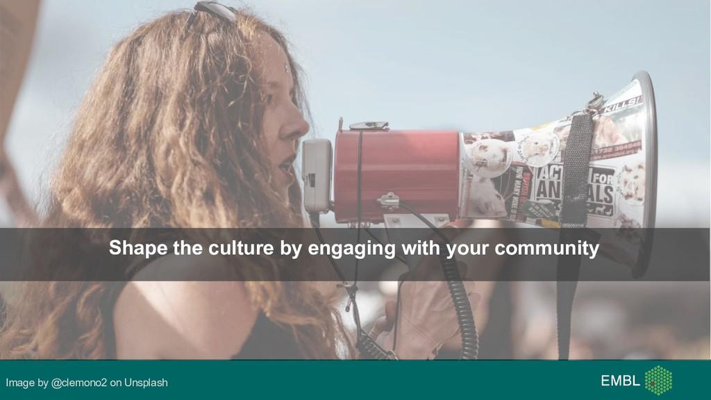Image by @clemono2 on Unsplash Shape the cultur...