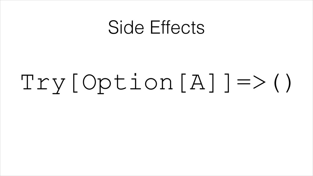 Side Effects Try[Option[A]]=>()