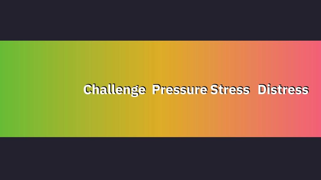 Challenge Pressure Stress Distress