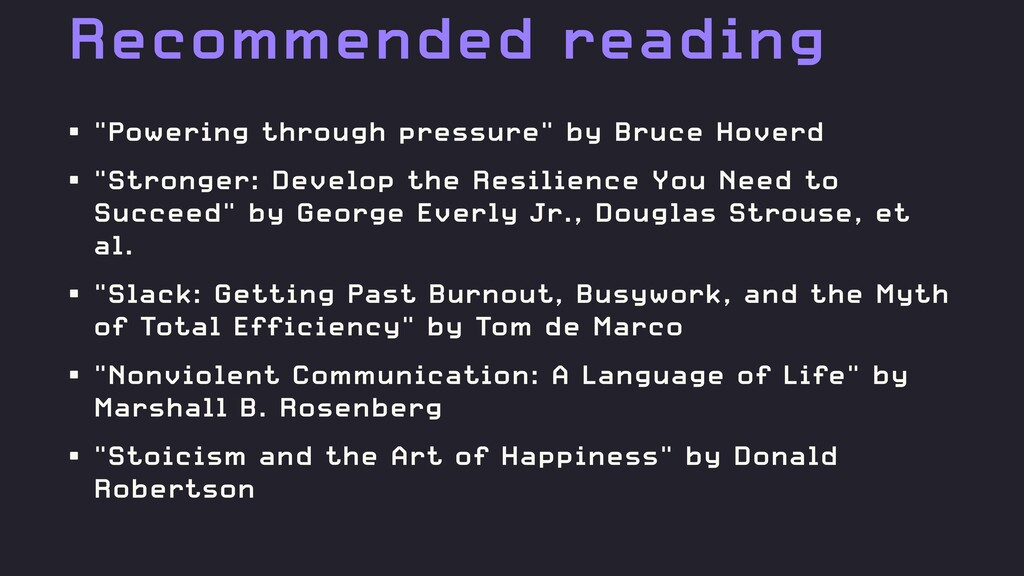"""Recommended reading • """"Powering through pressur..."""