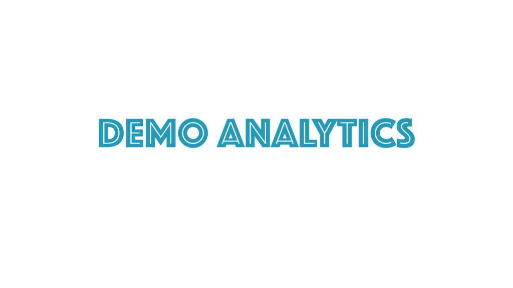 Demo ANalytics