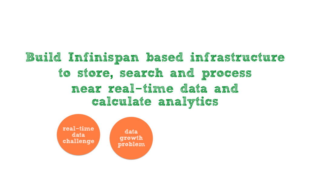 Build Infinispan based infrastructure to store,...