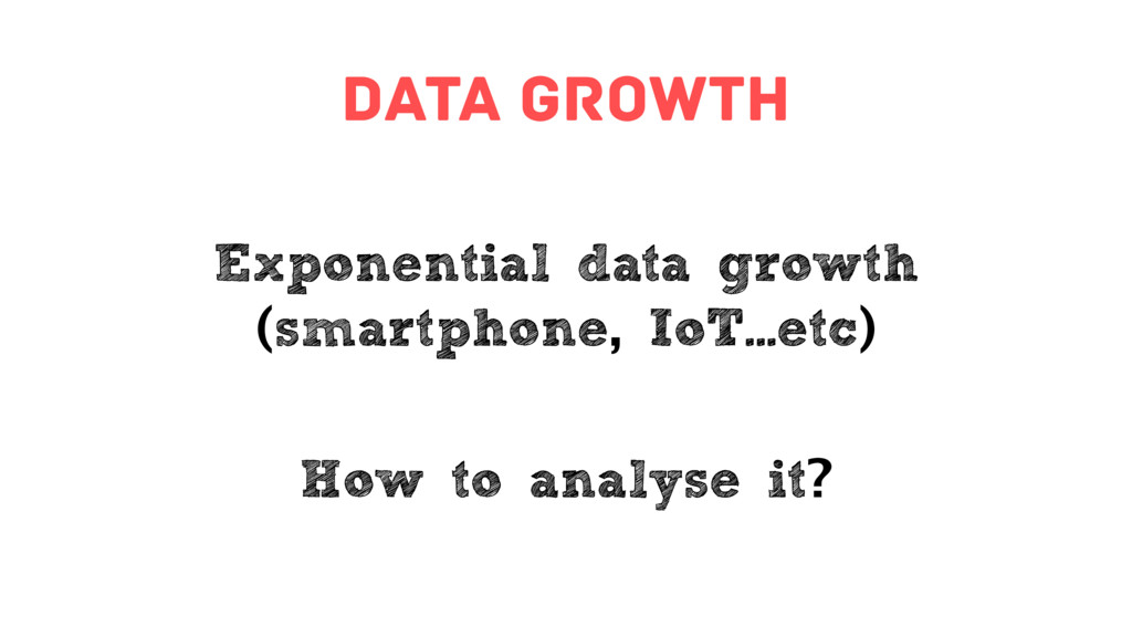 data growth Exponential data growth (smartphone...