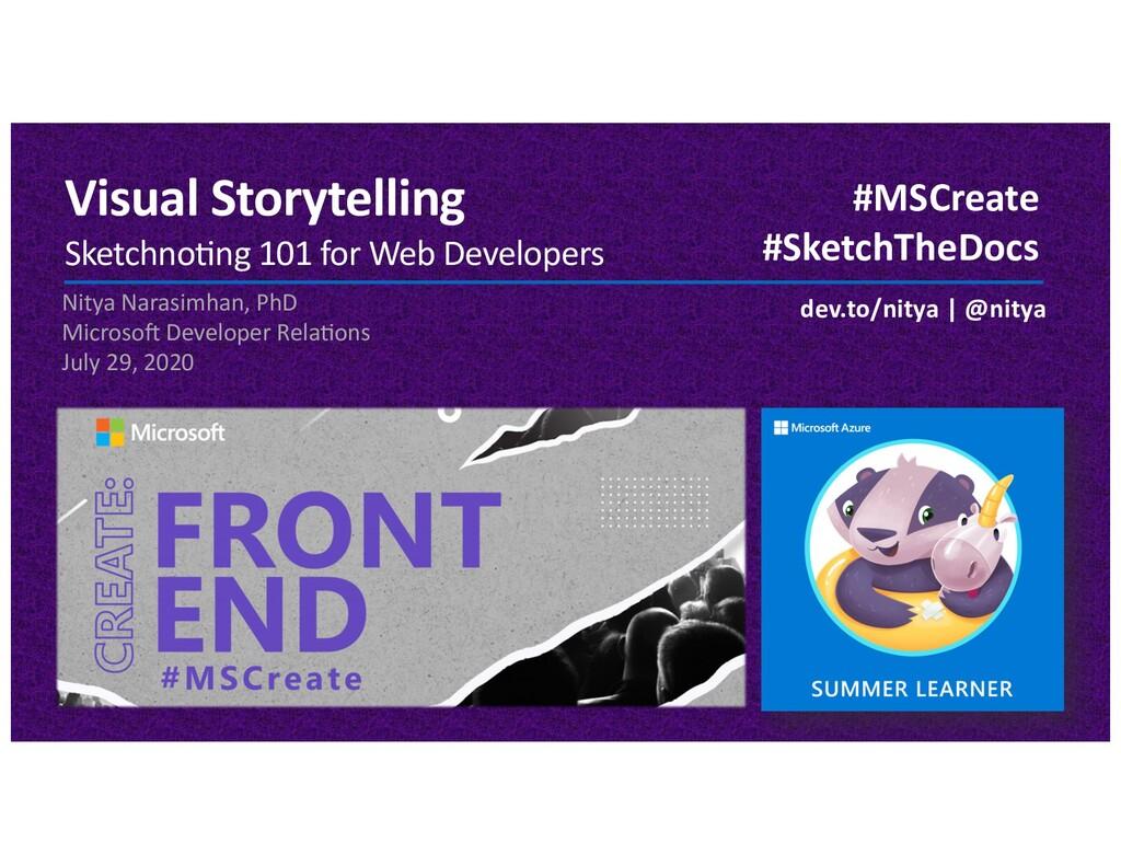 Visual Storytelling Sketchno)ng 101 for Web Dev...