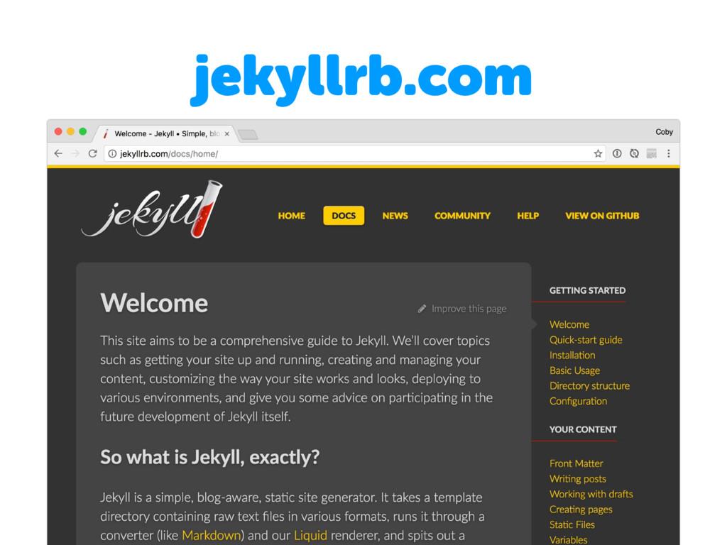 jekyllrb.com