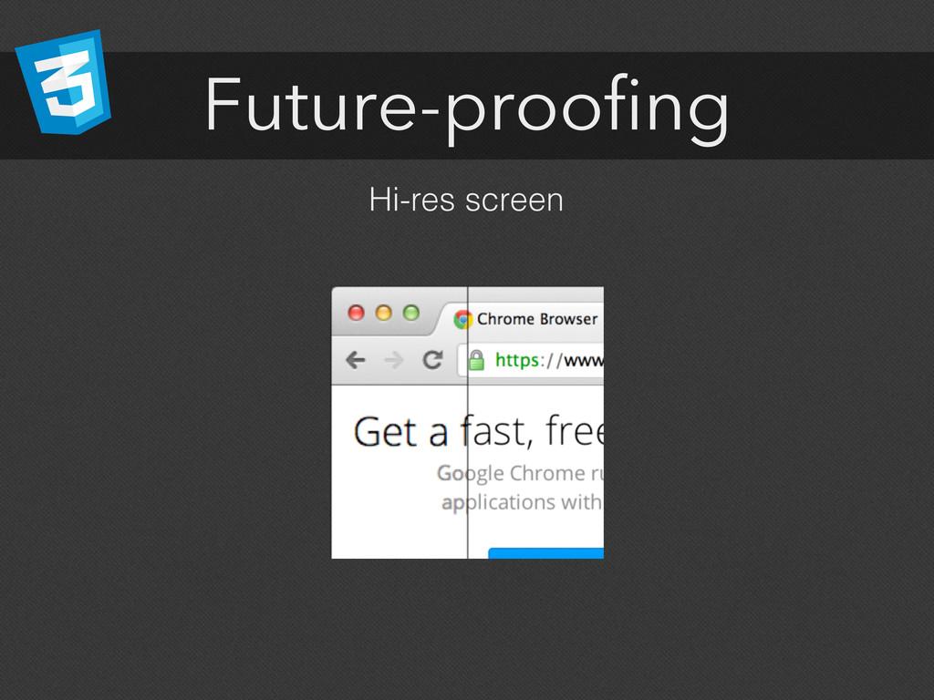 Future-proofing Hi-res screen