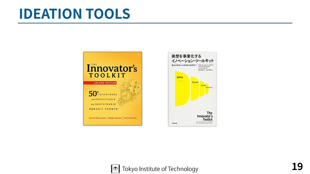 IDEATION TOOLS 19