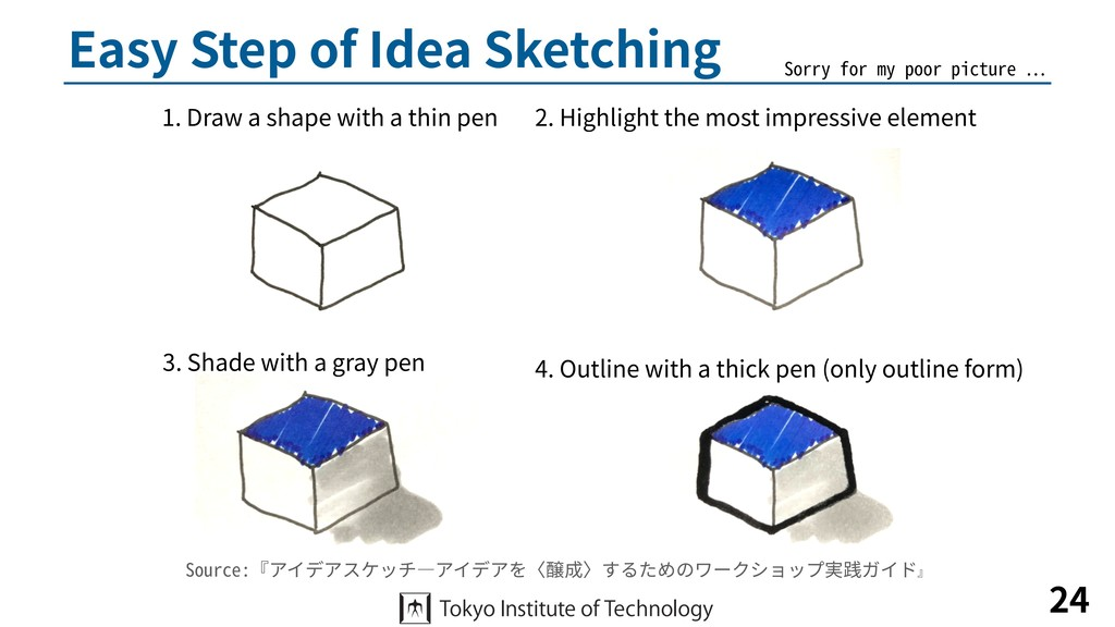 Easy Step of Idea Sketching 24 1. Draw a shape ...