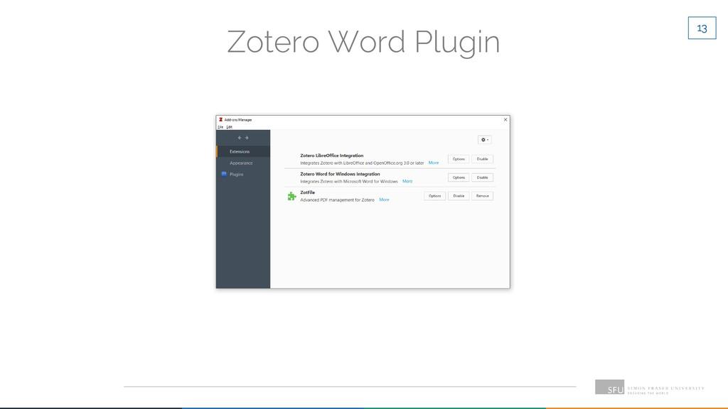 13 Zotero Word Plugin