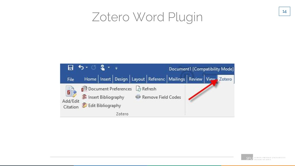 14 Zotero Word Plugin