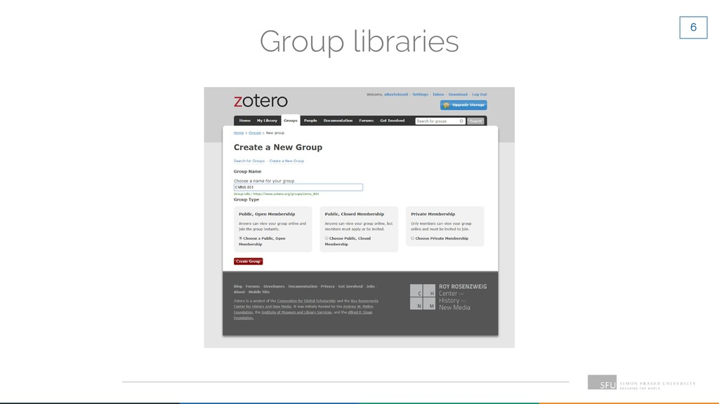 6 Group libraries