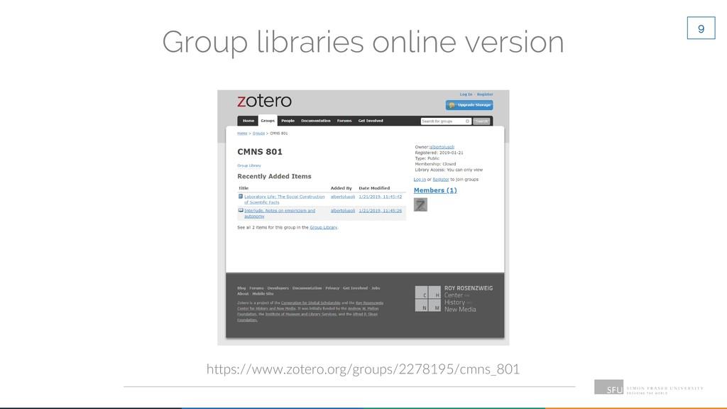 9 Group libraries online version https://www.zo...