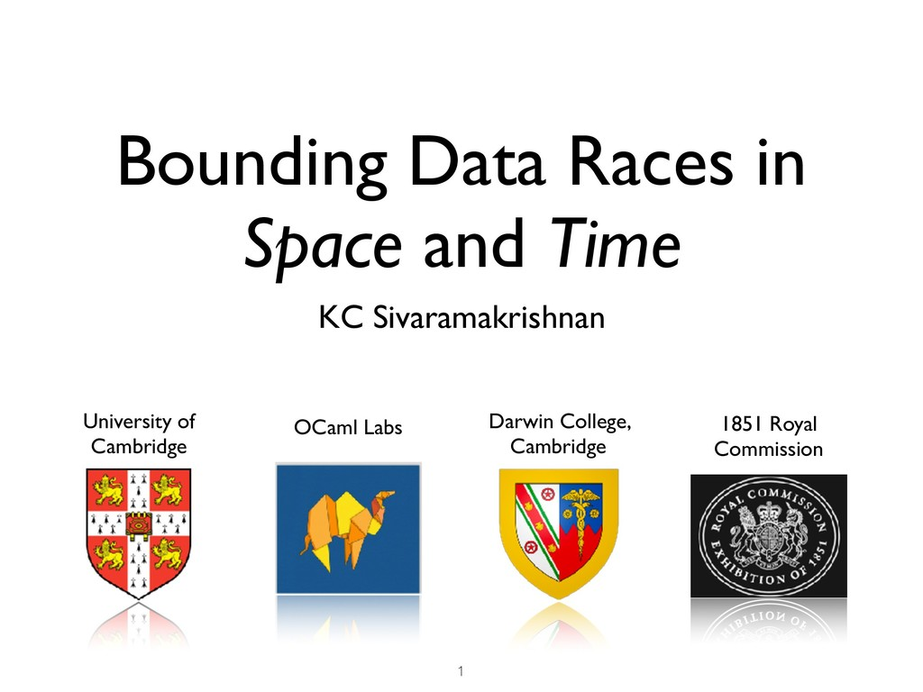 Bounding Data Races in Space and Time KC Sivara...