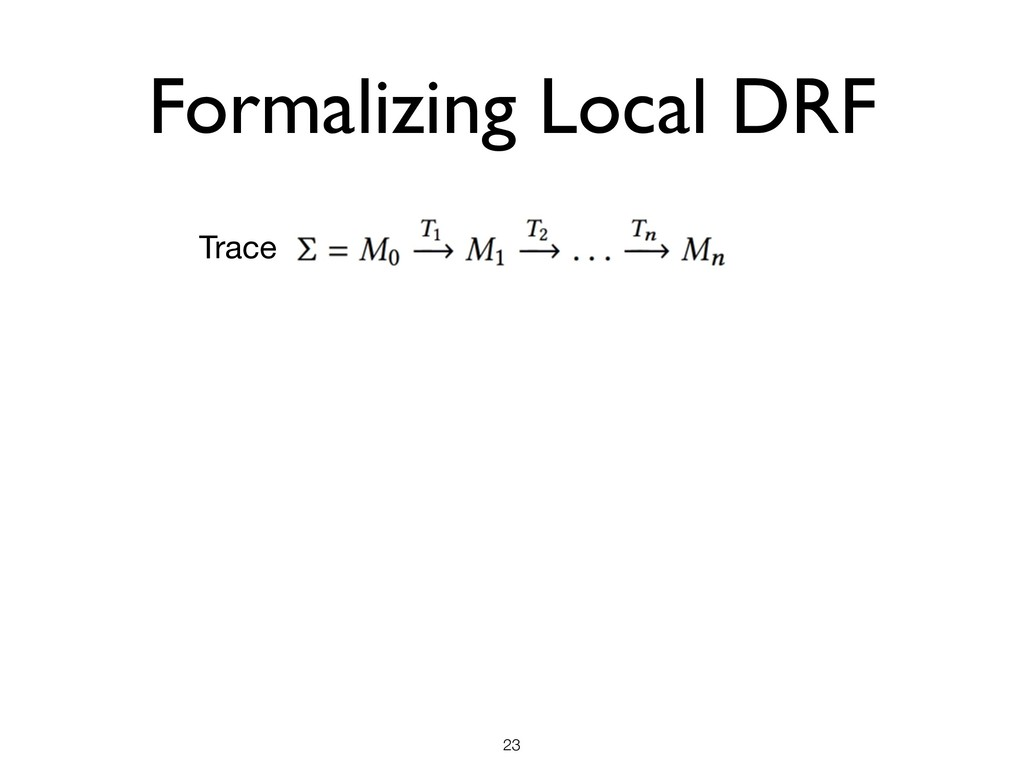 Formalizing Local DRF !23 Trace