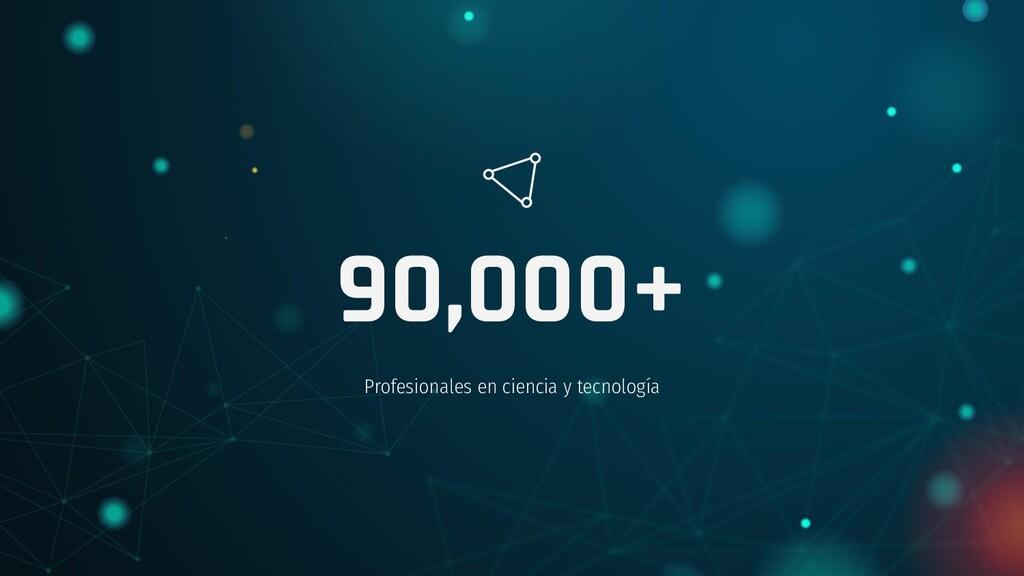 90,000+ Profesionales en ciencia y tecnología