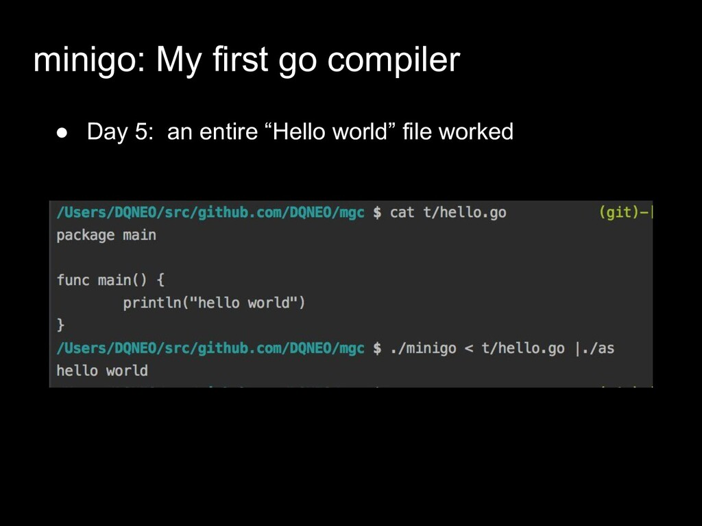 "● Day 5: an entire ""Hello world"" file worked mi..."