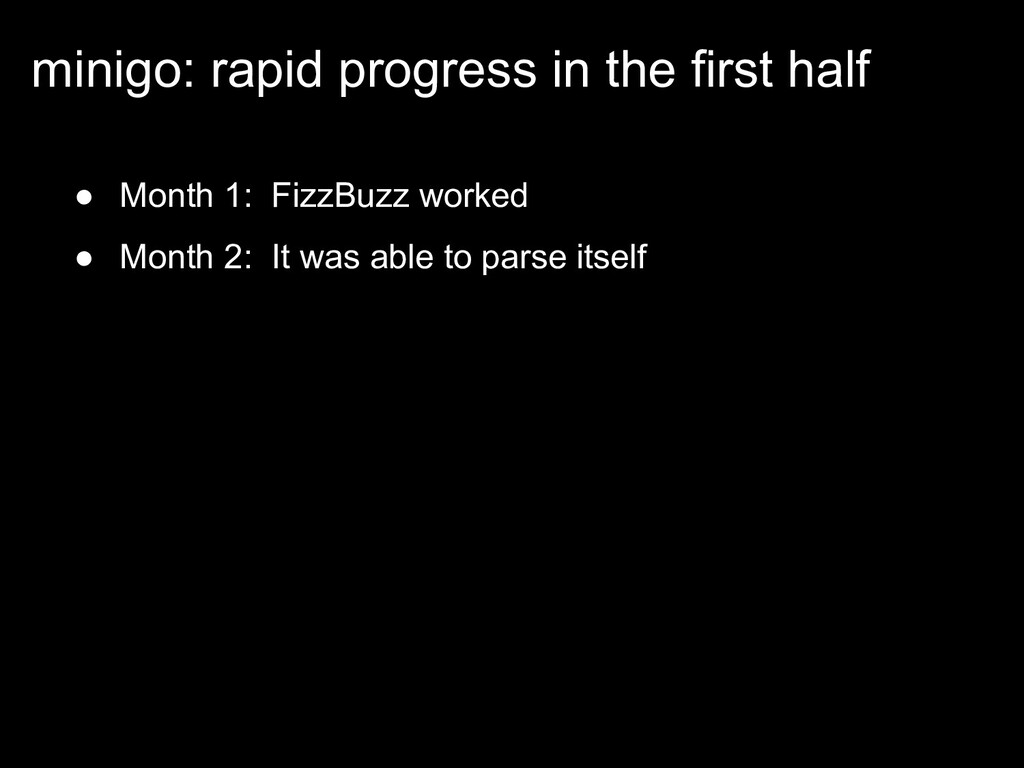 ● Month 1: FizzBuzz worked ● Month 2: It was ab...