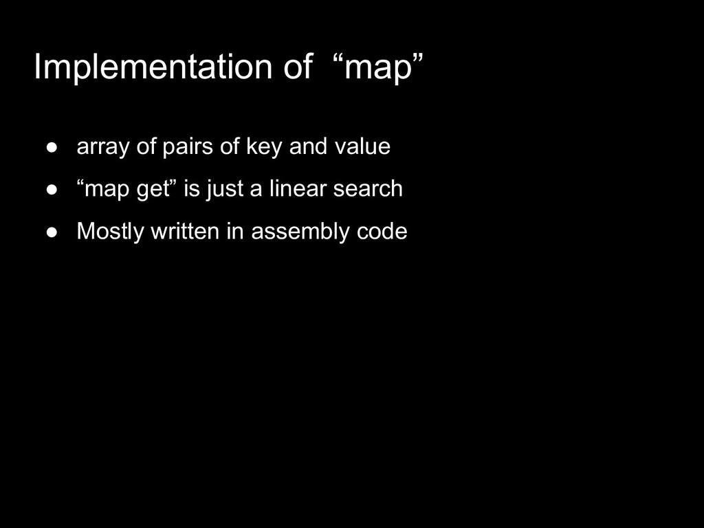 """Implementation of """"map"""" ● array of pairs of key..."""