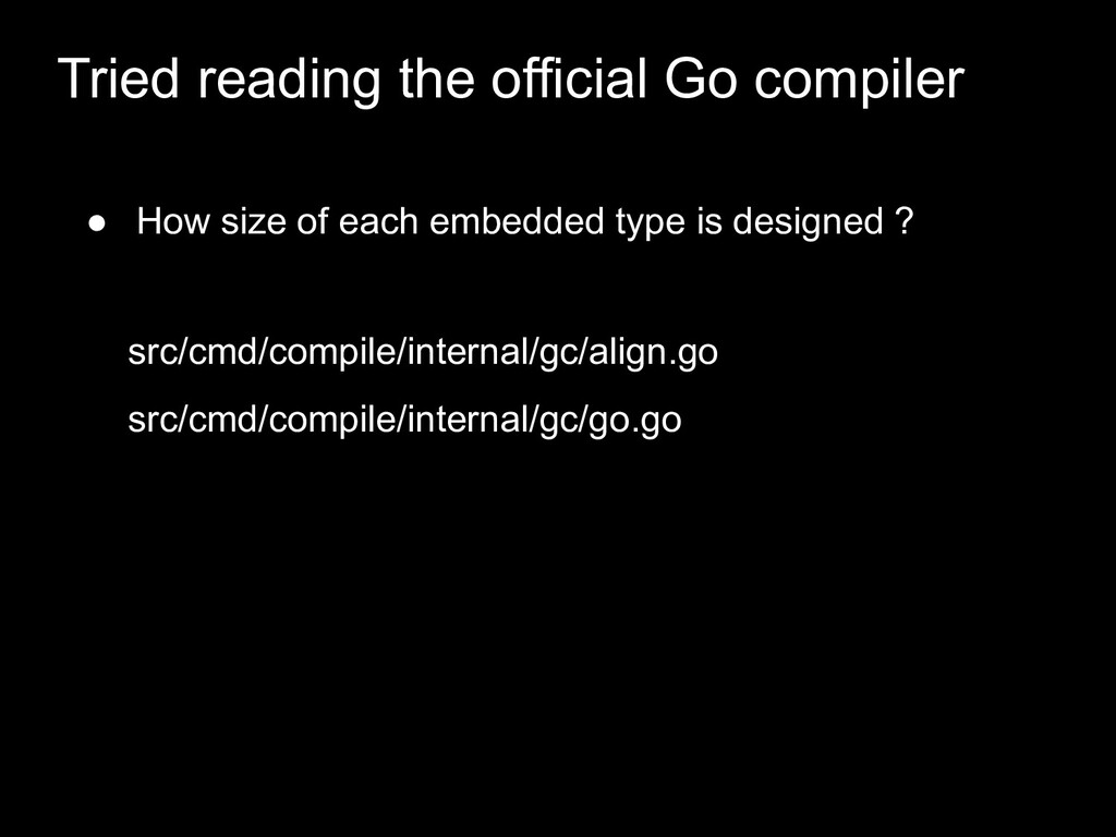 ● How size of each embedded type is designed ? ...