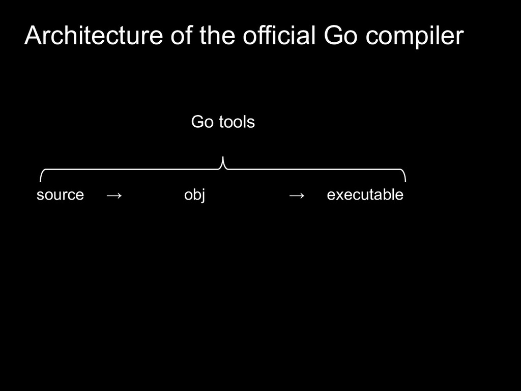 Architecture of the official Go compiler Go too...