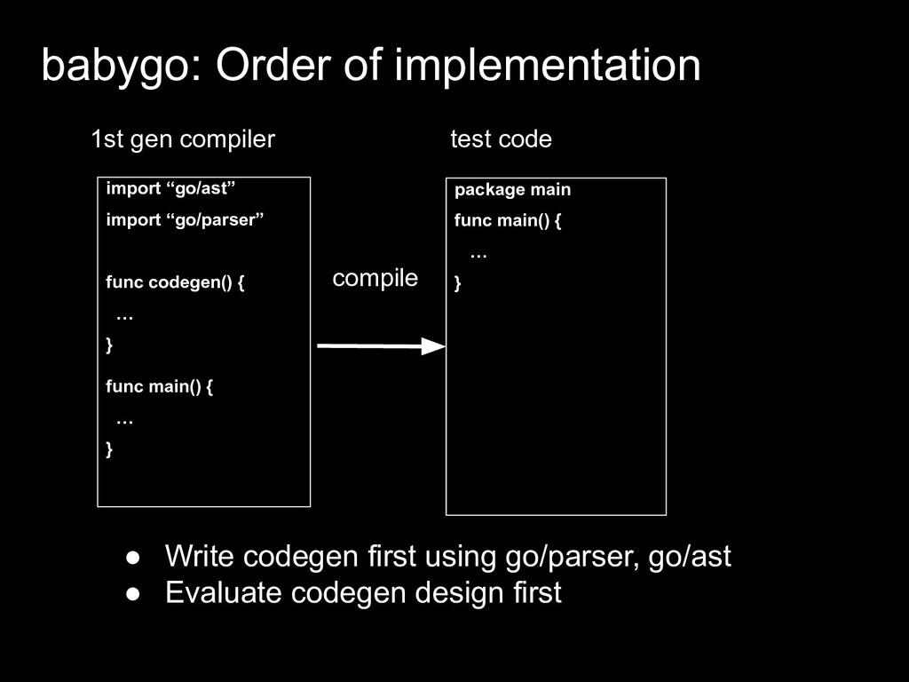 """import """"go/ast"""" import """"go/parser"""" func codegen..."""