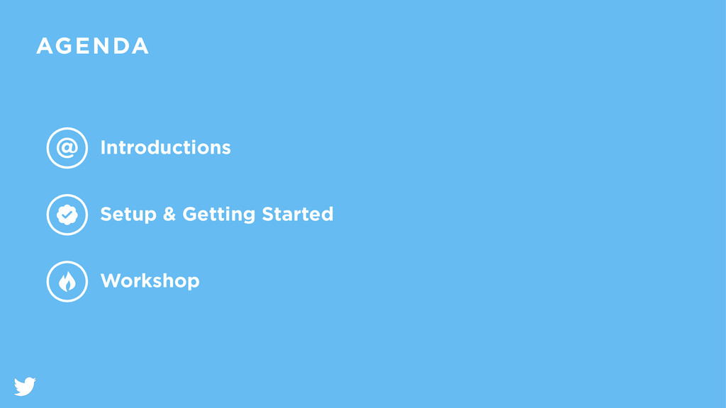 AGENDA Introductions Setup & Getting Started Wo...