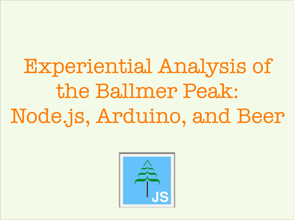 Experiential Analysis of the Ballmer Peak: Node...