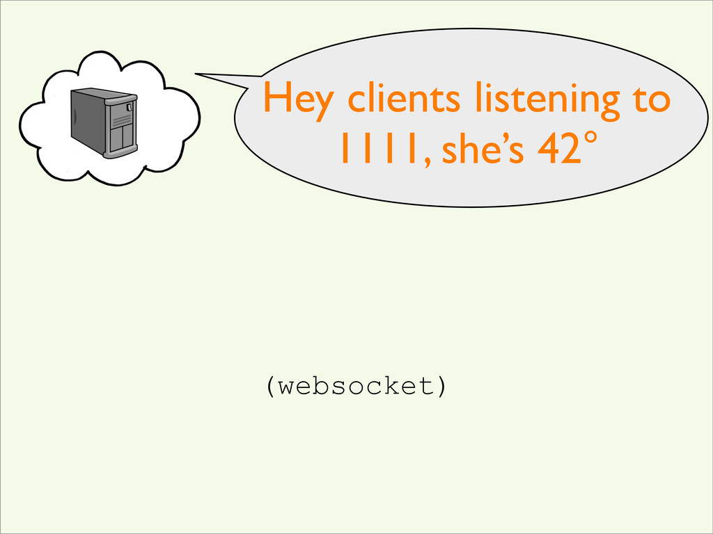 Hey clients listening to 1111, she's 42° (webso...