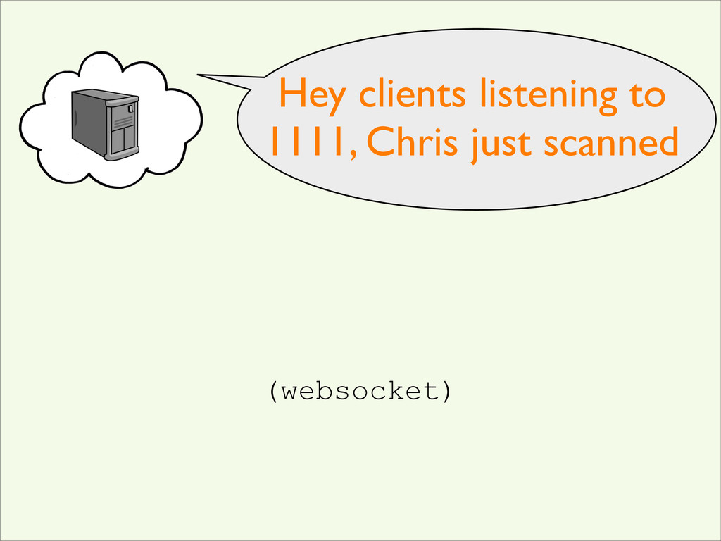 Hey clients listening to 1111, Chris just scann...