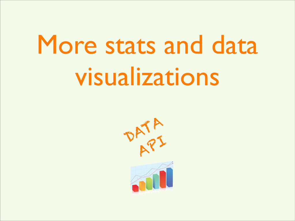 More stats and data visualizations DATA API