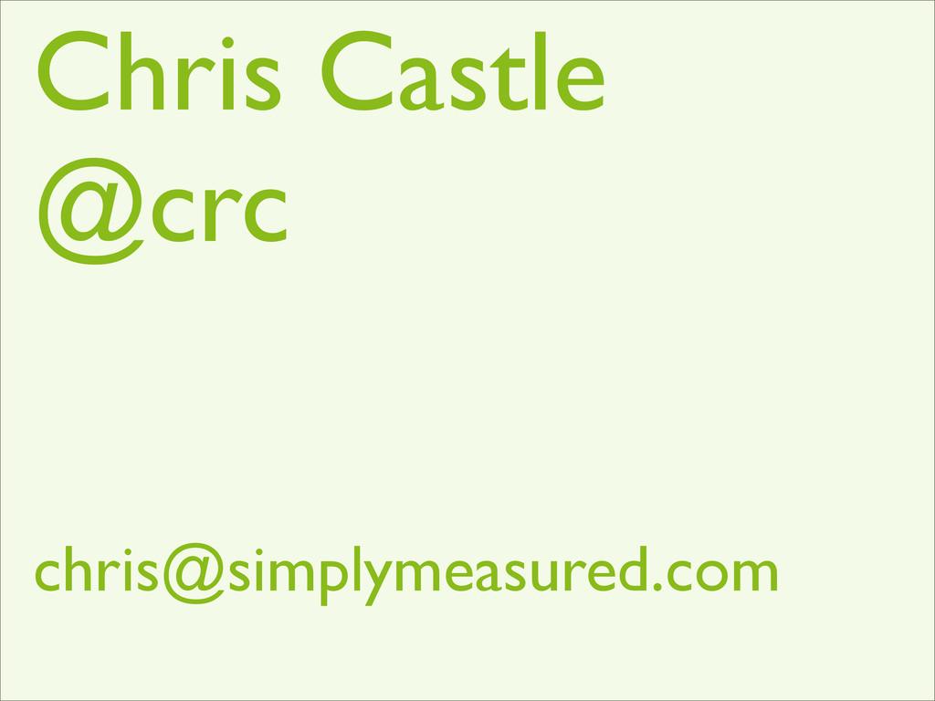 Chris Castle @crc chris@simplymeasured.com