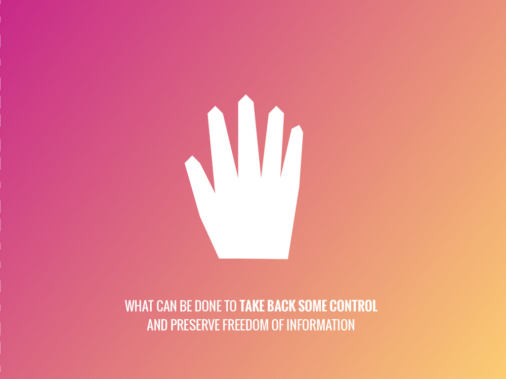 WHAT CAN BE DONE TO TAKE BACK SOME CONTROL AND ...