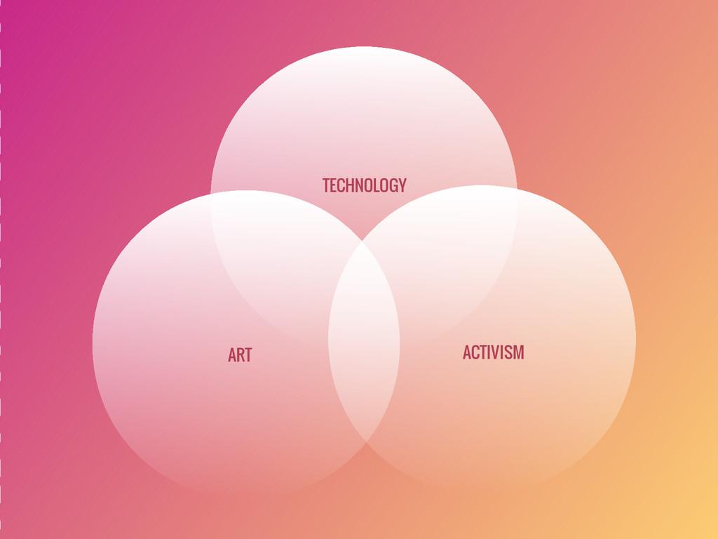 ART ACTIVISM TECHNOLOGY